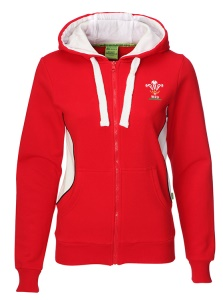 Ladies Official WRU Full Zip Hoody