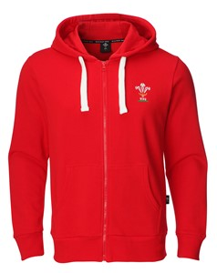 Childrens Official WRU Welsh Rugby Full Zip Hoody
