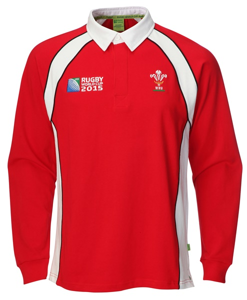 Childrens Official RWC 2015 Long Sleeve Rugby Shirt