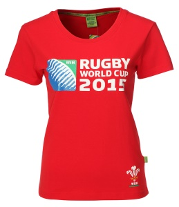 Ladies Official RWC 2015 Printed T-shirt