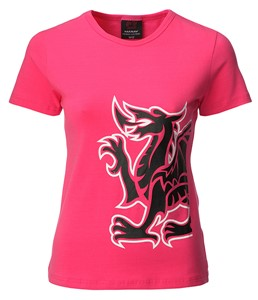 Ladies Welsh National Anthem Skinni Fit T-Shirt