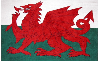 Welsh Dragon Flag 2' x 3'