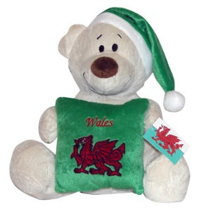 Souvenir Welsh Teddy Cushion