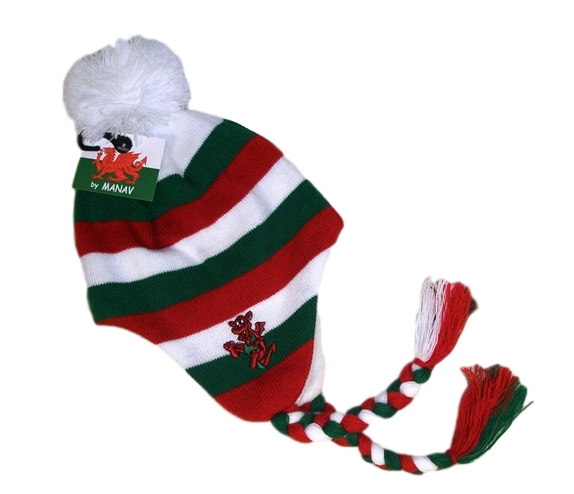 Kids Welsh Striped Hat