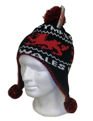 Kids Welsh Bobble Peruvian Hat