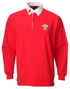 Basic Long Sleeve Traditional Welsh Rugby Shirt