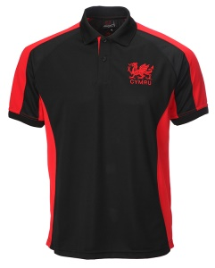 Kids 'Cai' Cooldry Black Polo Shirt