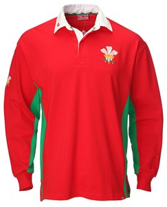 Tour Long Sleeve Welsh Rugby Shirt