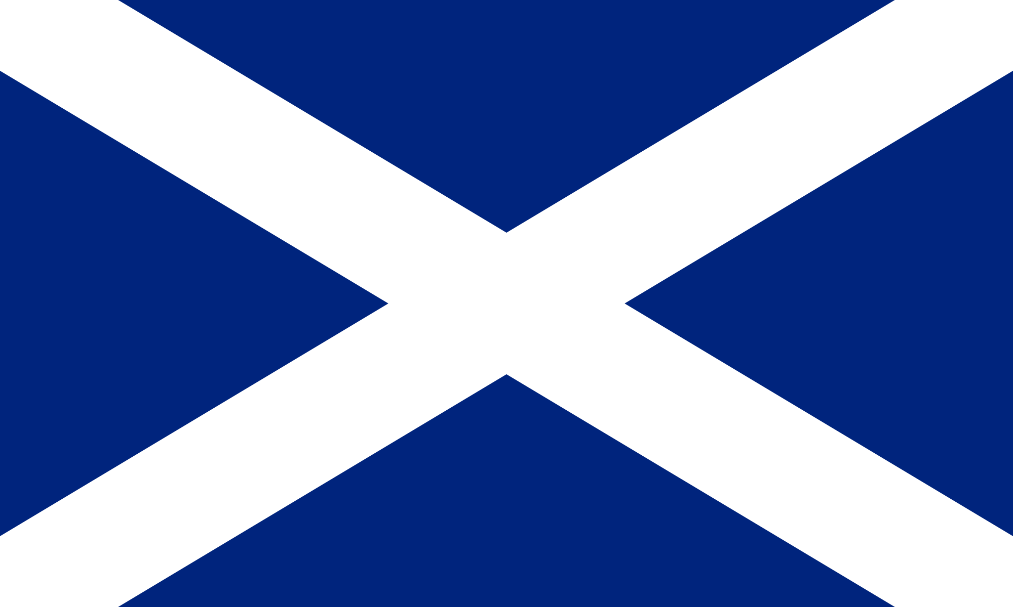 Scottish Flag 5' x 3'