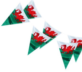 Welsh Dragon Flag Triangular Bunting