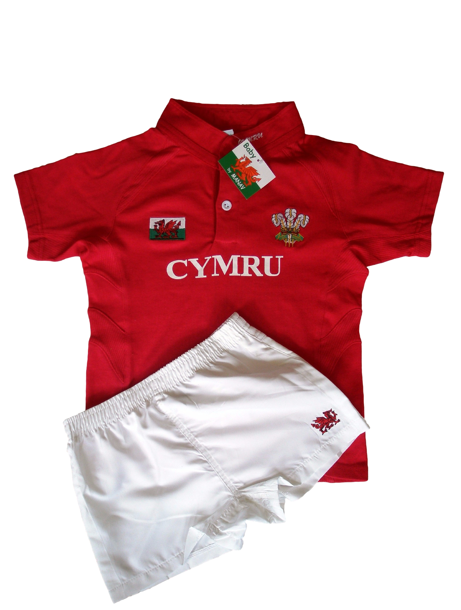 Baby Welsh Rugby Kit