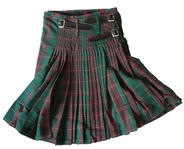 Mens Welsh Tartan Heavy Pleated Kilt