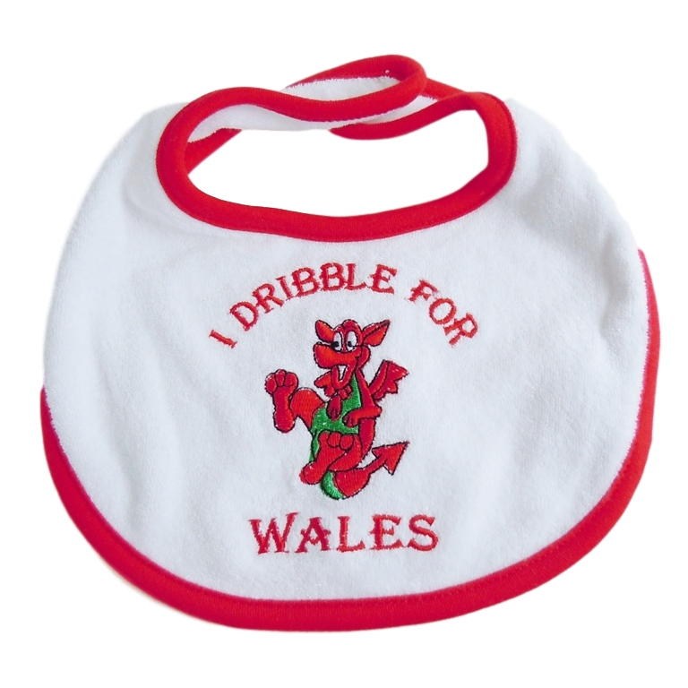 Welsh Embroidered Baby Bib