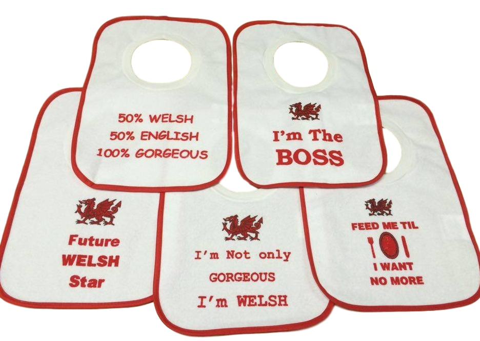 Welsh Printed Baby Bib