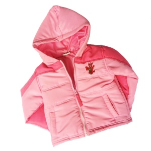 Girls Pink Padded Welsh Dragon Jacket