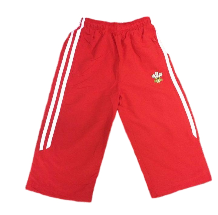 Boys 3/4 Red 'Welsh Flag' Jogging Bottoms