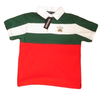 Kids Cut & Sew Welsh Rugby Shirt