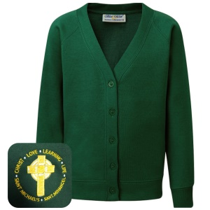 St Michael's Primary Green Cardigan