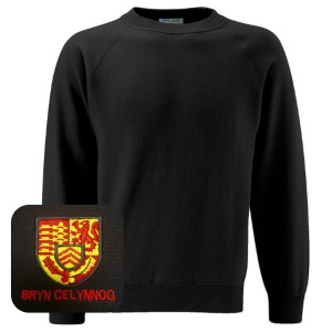 Bryn Celynog Comprehensive Black Sweatshirt