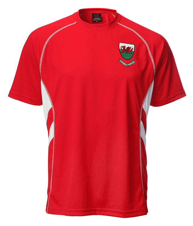 Kids Welsh 'Ryan' Cooldry Football T-Shirt