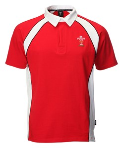 Mens Official WRU Short Sleeve Rugby Shirt