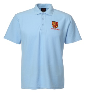 Bryn Celynog Comprehensive Sky Blue Polo Shirt