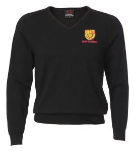 Bryn Celynog Comprehensive Boys Black V Neck Jumper