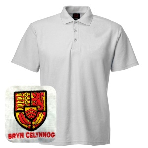 Bryn Celynog Comprehensive *SPORTS* White Polo Shirt