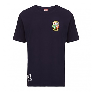 Official Lions Tour 2017 Navy Embroidered Badge T-Shirt