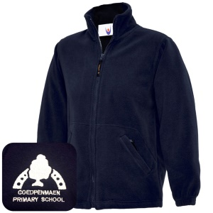 Coedpenmaen County Primary Navy Fleece Jacket