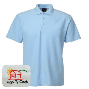 Ty Coch *PRIMARY* Light Blue Polo Shirt