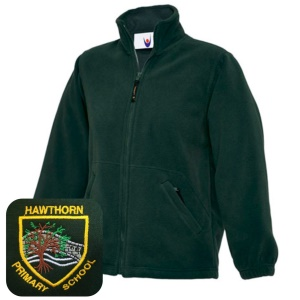 Hawthorn Primary Bottle Green Fleece Jacket