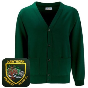 Hawthorn Primary Bottle Green Cardigan