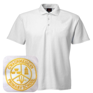 Gwaunmeisgyn Primary White Polo