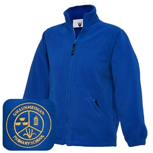 Gwaunmeisgyn Primary Blue Fleece Jacket