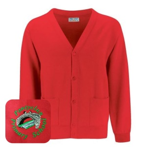 Pontyclun Primary Red Cardigan