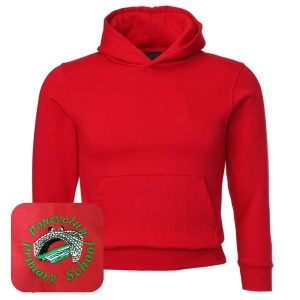 Pontyclun Primary Red Overhead Hoodie