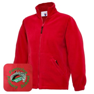 Pontyclun Primary Red Fleece Jacket