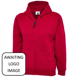 Cilfynydd Primary Red Zipped Hoodie