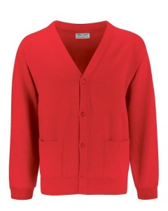 Ty Coch *POST 16* Red Cardigan
