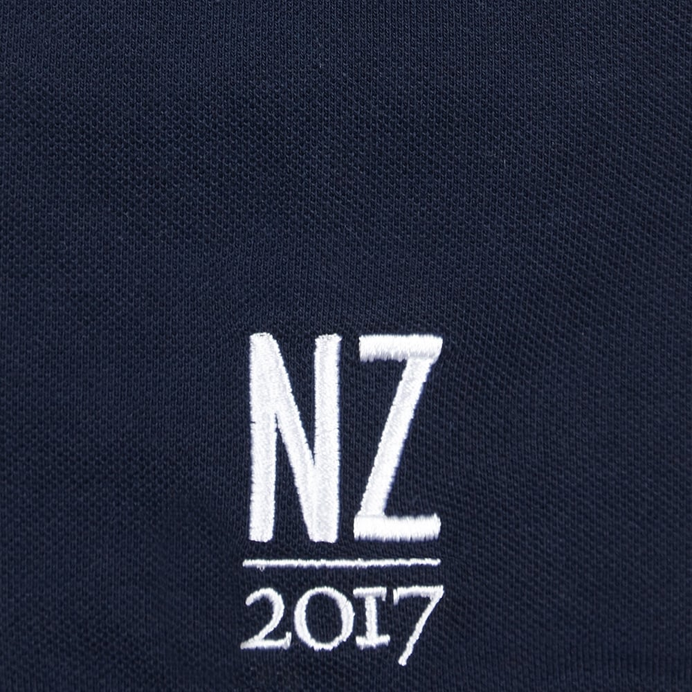 Official Lions Tour 2017 Navy Embroidered Supporters Polo