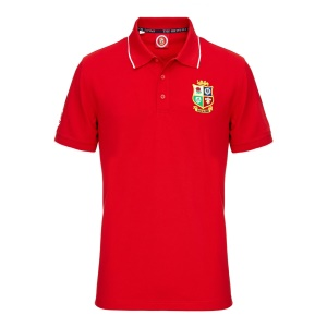 d561d74eedb Official Lions Tour 2017 Red Embroidered Supporters Polo ...