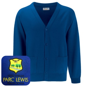 Parc Lewis Primary Blue Cardigan