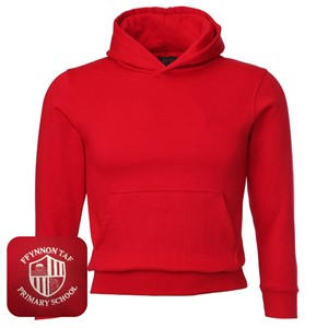 Ffynnon Taf Primary Red Overhead Hoodie