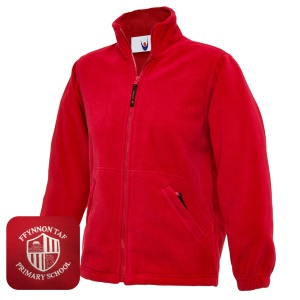Ffynnon Taf Primary Red Fleece Jacket