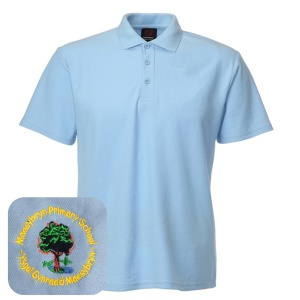 Maesybryn Primary Blue Polo