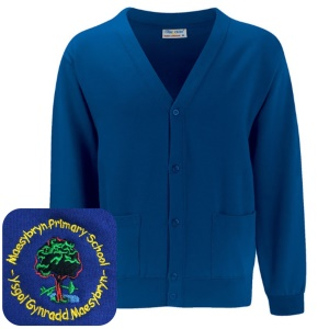Maesybryn Primary Blue Cardigan