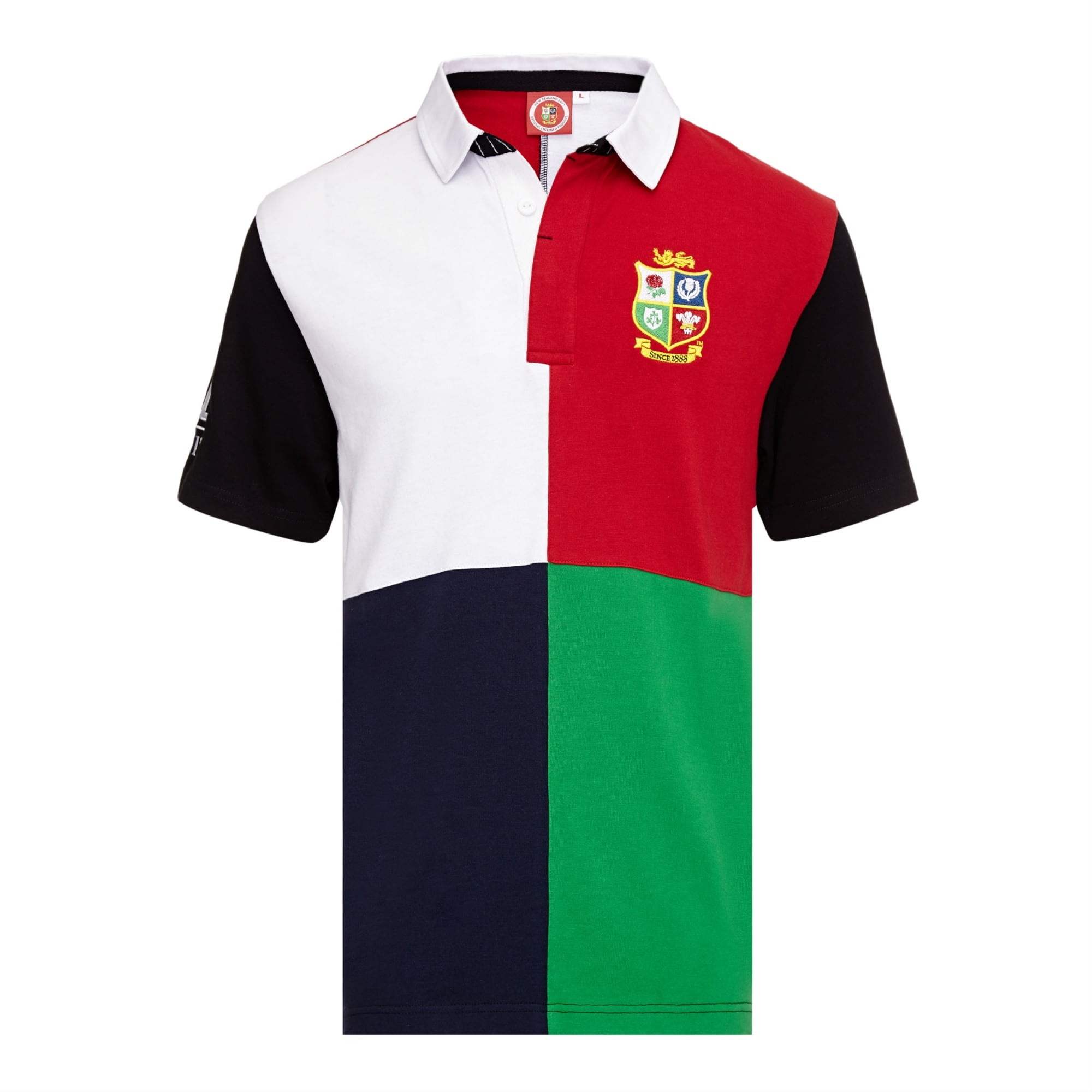 Official Lions Tour 2017 Harlequin Multi Short Sleeve Rugby Shirt