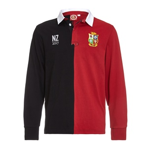 Official Lions Tour 2017 Red/Black Tour Long Sleeve Rugby Shirt