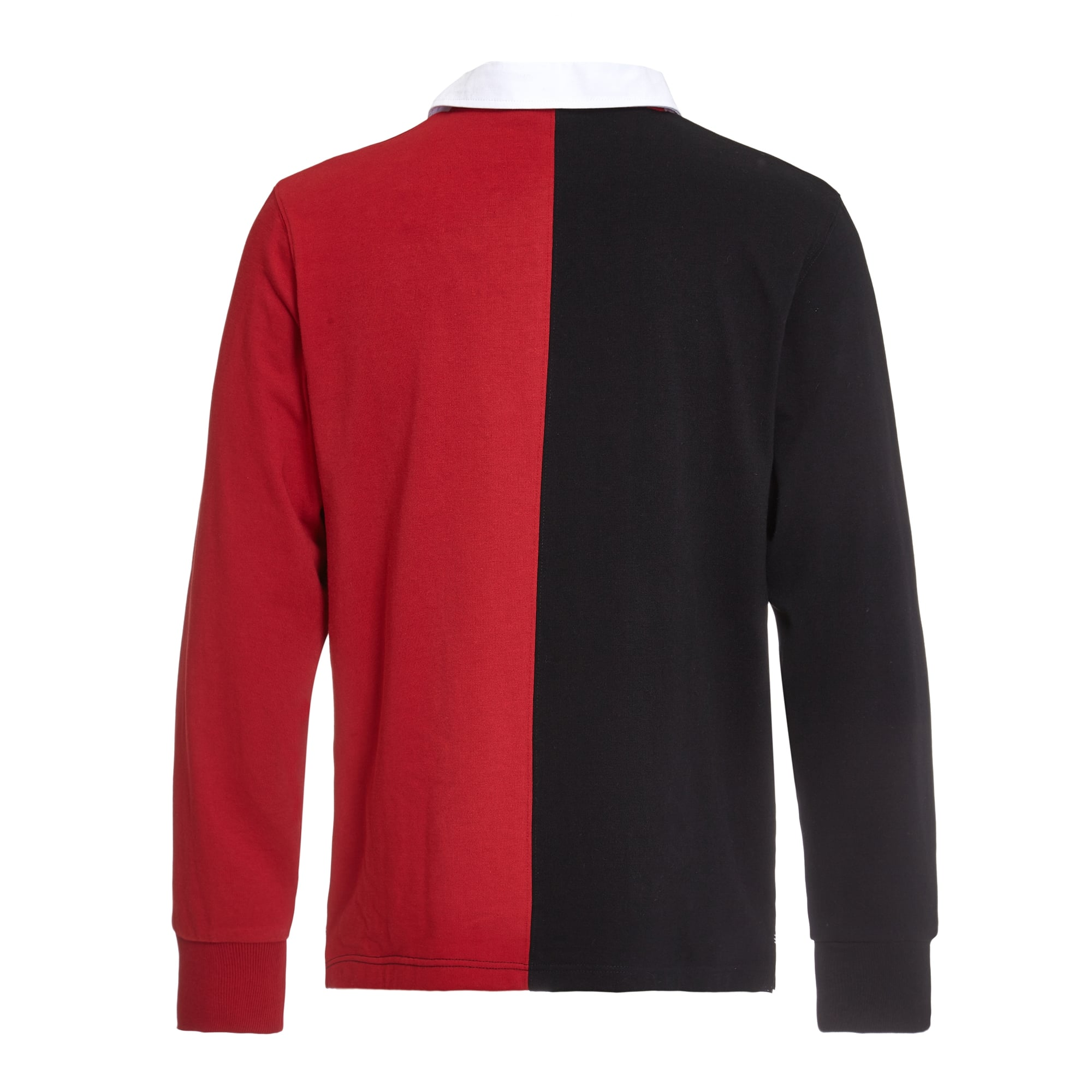 Red Long Sleeve Rugby Shirt With White Collar Bcd Tofu House